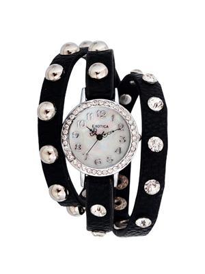 Exotica Fashions  EFL-100-Black Women Wrist Watch