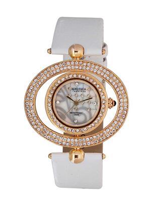 Exotica Fashions  EFL-15-RG-White Women Wrist Watch