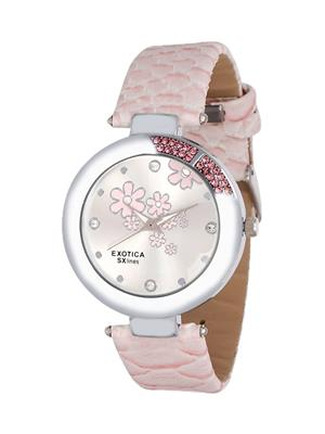 Exotica Fashions  EFL-19-Pink Women Wrist Watch