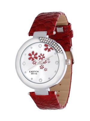 Exotica Fashions  EFL-19-Red Women Wrist Watch
