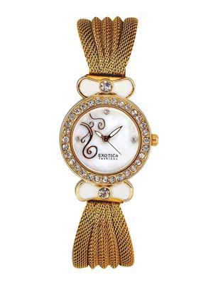 Exotica Fashions  EFL-25-Gold Women Wrist Watch