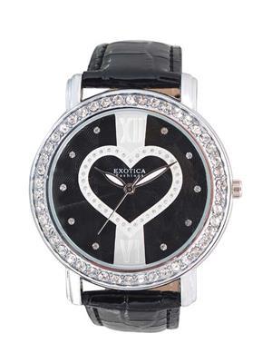 Exotica Fashions  EFL-70-H-Black-White Women Wrist Watch