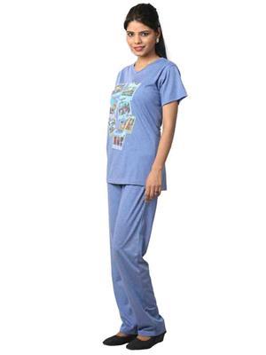 ELITE EL- 17 Blue Women Night Wear