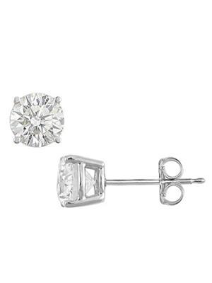 Love Bright Jewelry EL207ER2001471600CZ  White Women Earrings