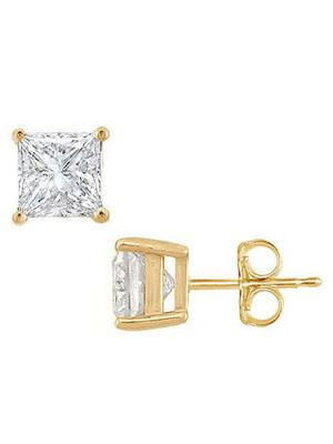 Love Bright Jewelry EL207ER2003424200CZ  White Women Earrings
