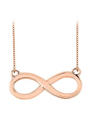 Love Bright Jewelry EL207PD20014796AGVR  Pink Women Necklaces