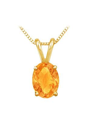 Love Bright Jewelry EL207PD20024051AGVY  Yellow Women Pendants