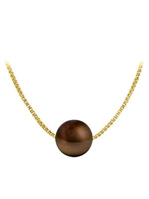 Love Bright Jewelry EL207PD20039769CH09  Brown Women Necklaces