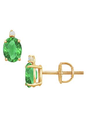 Love Bright Jewelry EL207UE20037632GVYE  Green Women Earrings