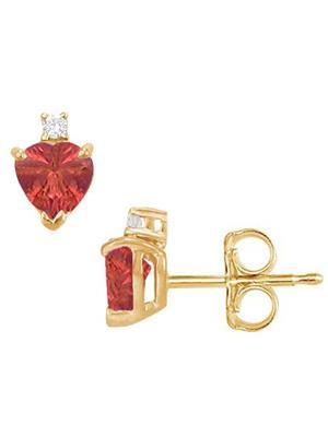 Love Bright Jewelry EL207UE20037638GVYR  Red Women Earrings
