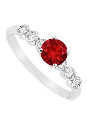 Love Bright Jewelry EL207UJ20036696GCZRRS Red Women Rings