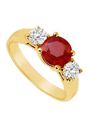 Love Bright Jewelry EL207UJ20036926YCZRRS Red Women Rings
