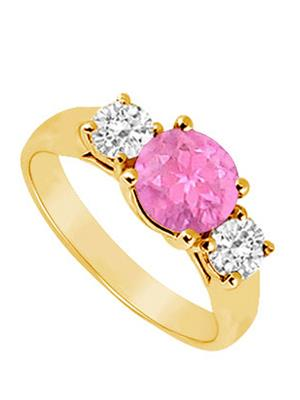 Love Bright Jewelry EL207UJ20036970CZPSRS Pink Women Rings