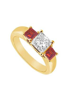 Love Bright Jewelry EL207UJ20037515CZRRRS Red Women Rings