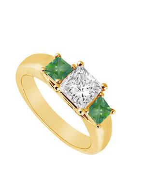 Love Bright Jewelry EL207UJ20037525CZEERS Green Women Rings