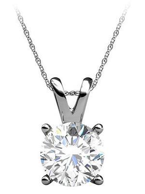Love Bright Jewelry EL5PD20040425W14D  White Women Pendants