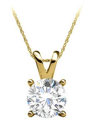 Love Bright Jewelry EL5PD20040437Y14D  Yellow Women Pendants