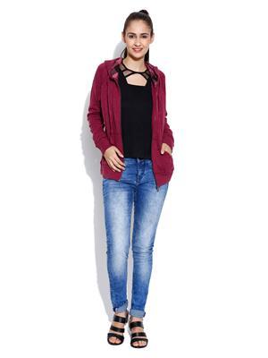 Envy Me Em15-087 Maroon Women Sweatshirt