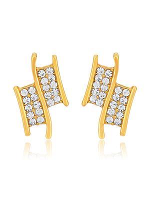 Mahi Fashion Jewellery Understated Elegance White Stone Earring