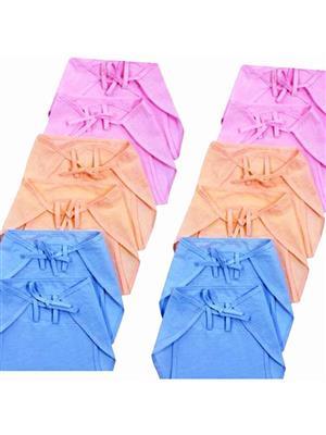 Eshas ES12BCNCDL  Peach,Blue & Pink Boys & Girls Cloth Diaper Pack of 12