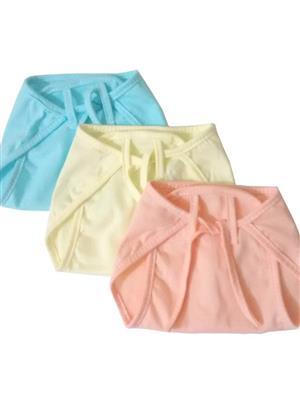 Eshas ES3HNCDNB  Blue,Yellow & Peach Boys & Girls Cloth Diaper Pack Of 3