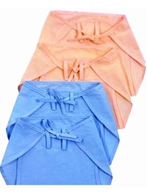 Eshas ES4BCNCDNB  Peach & Blue Boys & Girls Cloth Diaper Pack of 4
