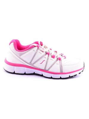 ESCAN ES630014-3 White and Pink Sports Shoes