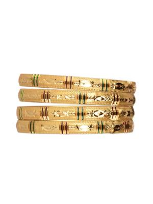 Esmartdeals Esd0440 Gold Plated Women Bangles Set Of 4