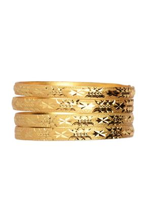 Esmartdeals Esd0445 Gold Plated Women Bangles Set Of 4
