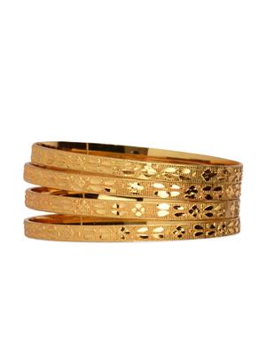 Esmartdeals Esd0448 Gold Plated Women Bangles Set Of 4