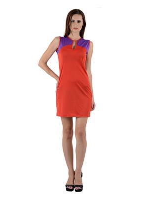Esmartdeals Esd11100 Red-Purple Women Dress