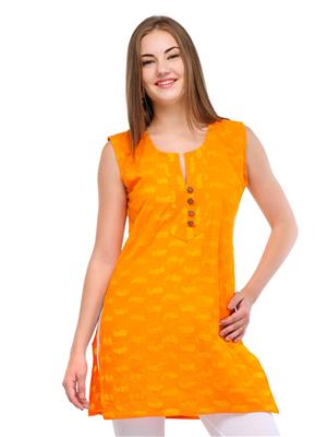 Esmartdeals Esd11628 Yellow Women Kurti