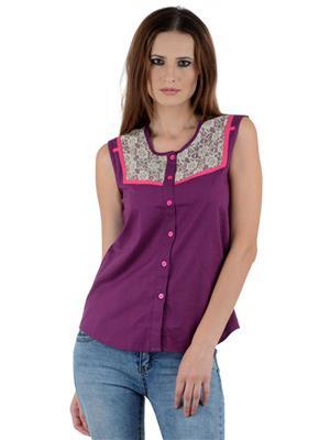 Ambitione Esd12072 Purple Women Top