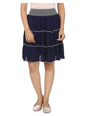 Esmartdeals Esd12084 Dark Blue Women Skirt