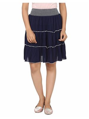 Ambitione Esd12084 Dark Blue Women Skirt