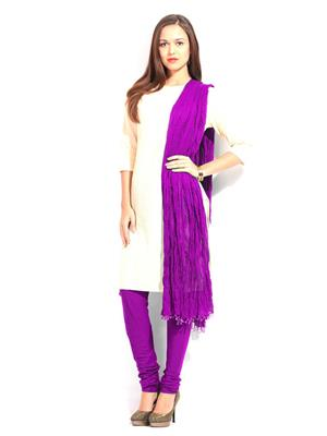 Esmart Deals Esd12361 Purple Women Dupatta