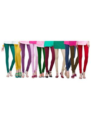Esmart Deals Esd12465 Multicolored Women Leggings Set Of 10