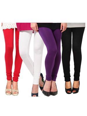 Esmart Deals Esd12972 Multicolored Women Leggings Set Of 4