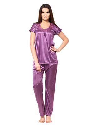 Esmart Deals Esd13171 Purple Women Night Suit