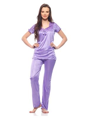 Esmart Deals Esd13186 Deep Purple Women Night Suit