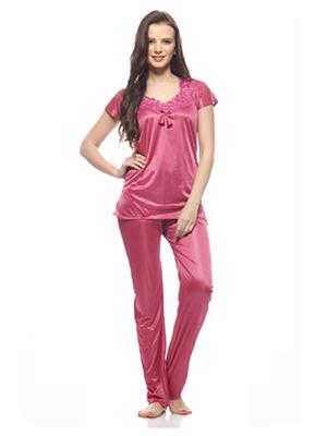 Esmart Deals Esd13192 Peach Women Night Suit