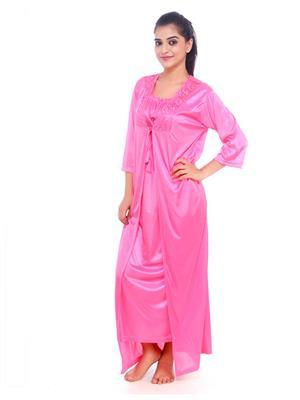 Esmart Deals Esd13240 Pink Women Night Wear With Robe