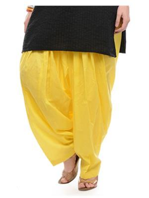 Esmart Deals Esd13307 Yellow Women Semi Patiyala Salwar