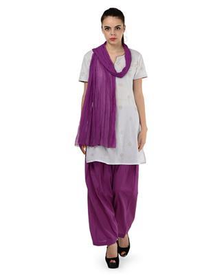Esmart Deals Esd13483 Violet Women Salwar & Dupatta