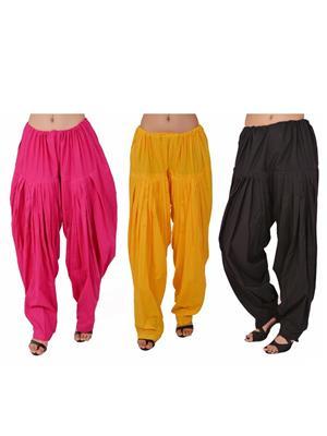 Esmart Deals Esd13531 Multicolored Women Semi Patiyala Salwar Set Of 3