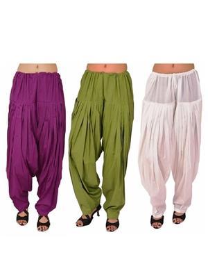 Esmart Deals Esd13563 Multicolored Women Semi Patiyala Salwar Set Of 3