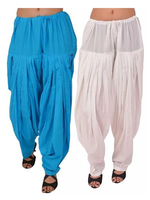 Esmart Deals Esd13819 Multicolored Women Semi Patiyala Salwar Set Of 2