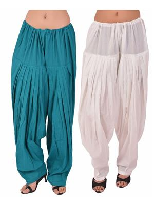 Esmart Deals Esd13855 Multicolored Women Semi Patiyala Salwar Set Of 2