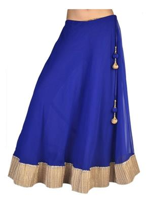 Esmartdeals Esd14345 Blue Women Skirt