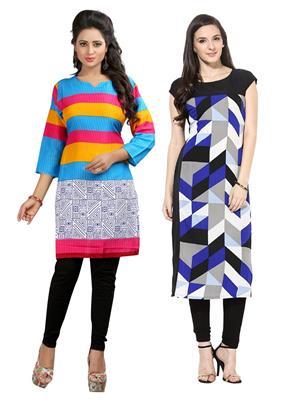 Esmartdeals Esd14566 Multicolored Women Kurti Combo Pack